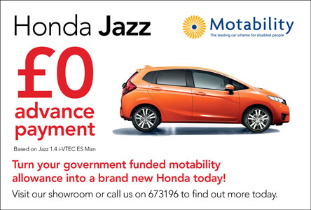 Honda Jazz Motability